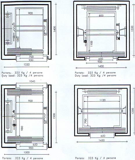 Ascensore dimensioni installazione climatizzatore for Dimensioni ascensore